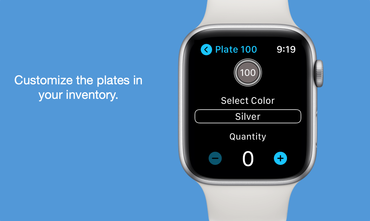 Customize the plates in your inventory.